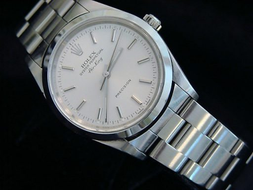 Rolex Stainless Steel Air-King 14000 Silver-5
