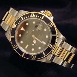 Mens Rolex Two-Tone 18K/SS Submariner Black  16803