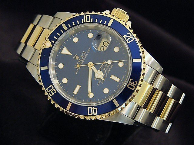 rolex mens two tone submariner 16613 for sale sku p867965mt