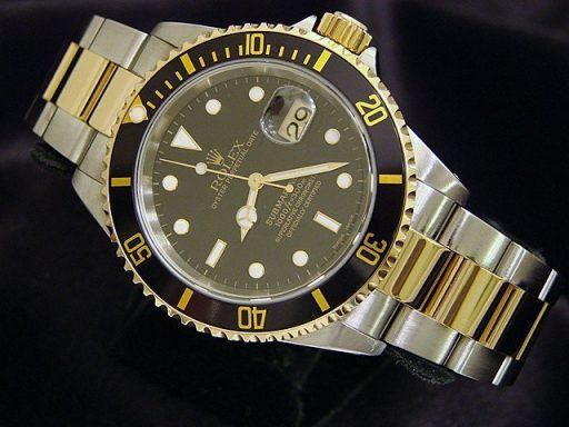 Rolex Two-Tone Submariner 16613 Black -3