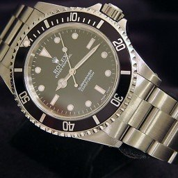 Mens Rolex Stainless Steel Submariner Black  14060 (SKU P203699NNBCMT)