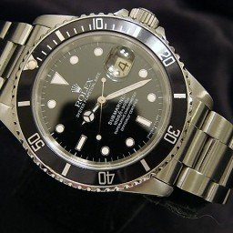 Mens Rolex Stainless Steel Submariner Black  16610 (SKU L550411NNBCMT)