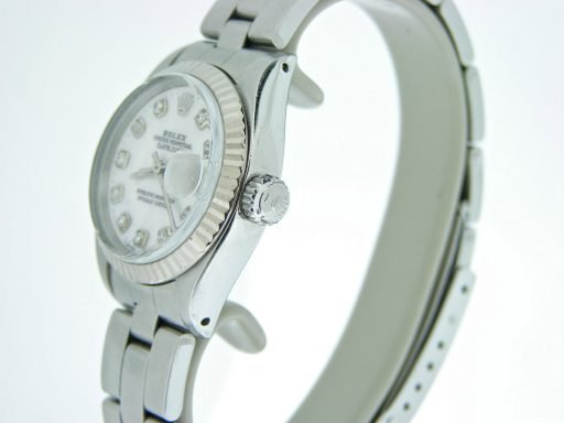 Rolex Stainless Steel Datejust 6917 White MOP Diamond-3