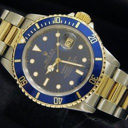 Mens Rolex Two-Tone 18K/SS Submariner Blue  16803