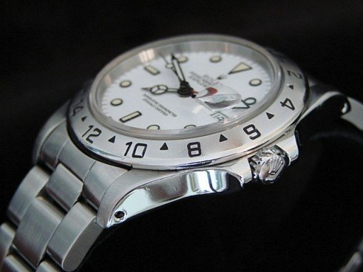 Rolex Stainless Steel Explorer II 16570 White -3