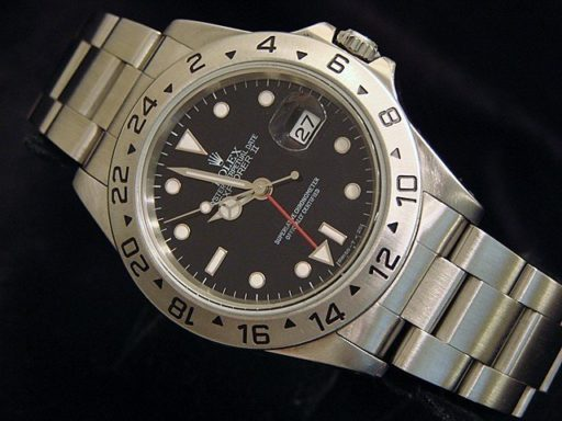 Rolex Stainless Steel Explorer II 16570 Black -5