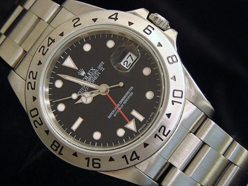 Rolex Stainless Steel Explorer II 16570 Black -4