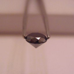Genuine 1. 25 Ct Round Si-1 Natural Black Diamond Loose (SKU BLK125)