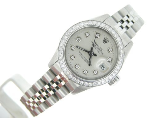 Rolex Stainless Steel Datejust 6917 Silver Diamond-3