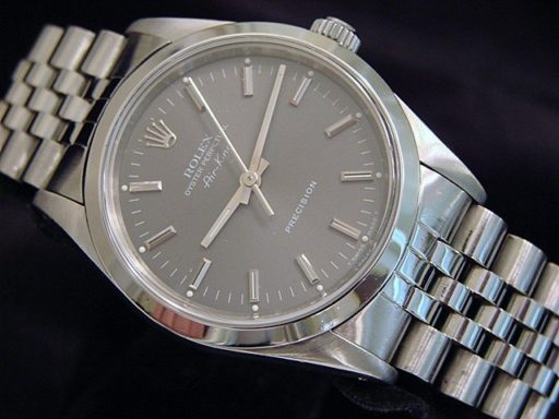 Rolex Stainless Steel Air-King 14000 Slate-4