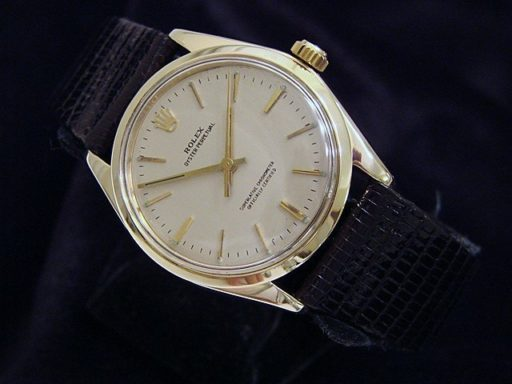 Rolex 14K Yellow Gold Oyster Perpetual 1005 Silver