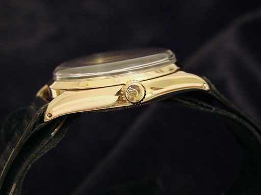 Rolex 14K Yellow Gold Oyster Perpetual 1005 Silver -2