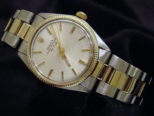 Rolex Two-Tone Air-King 5501 Silver -6
