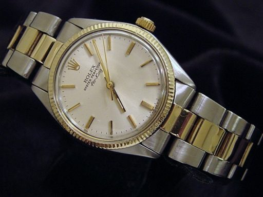 Rolex Two-Tone Air-King 5501 Silver -5