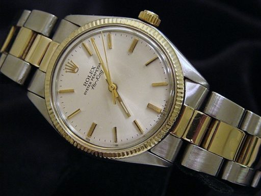 Rolex Two-Tone Air-King 5501 Silver -4