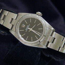 Ladies Rolex Stainless Steel Oyster Perpetual Black  76030