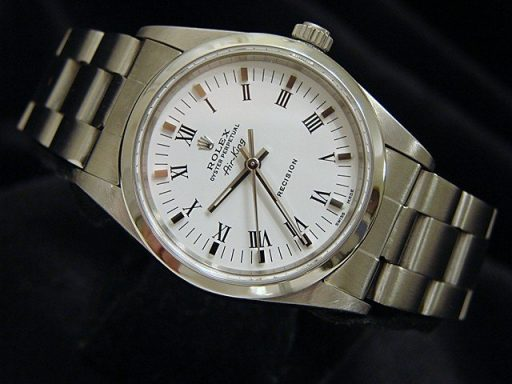 Rolex Stainless Steel Air-King 14000 White-4