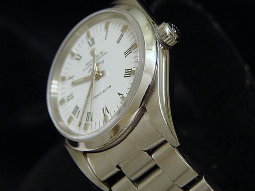 Rolex Stainless Steel Air-King 14000 White-3