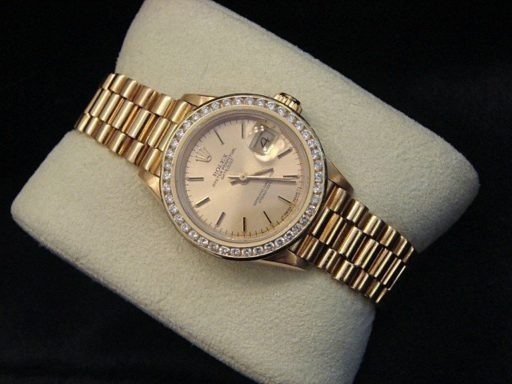 Rolex Yellow Gold Datejust President Diamond 69178 Champagne-5