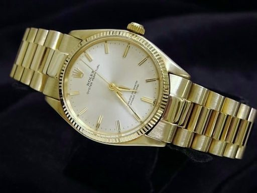 Rolex 14K Yellow Gold Oyster Perpetual 1005 Silver -7