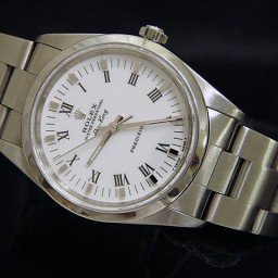 Mens Rolex Stainless Steel Air-King White Roman 14000 (SKU U980407CMT)
