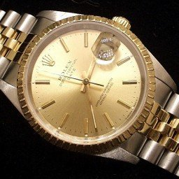 Mens Rolex Two-Tone 18K/SS Date Champagne  15223 (SKU 2921111MT)