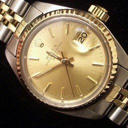 Ladies Rolex Two-Tone 14K/SS Date Champagne  6917