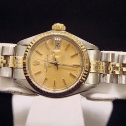 Ladies Rolex Two-Tone 14K/SS Date Champagne  6917 (SKU 332MT)