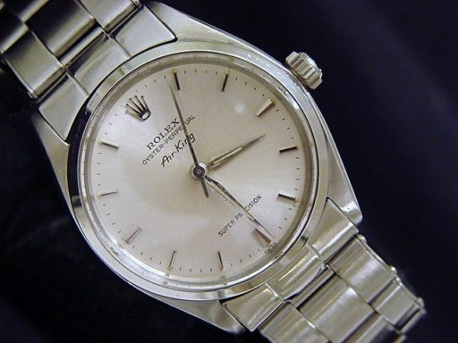 Rolex Stainless Steel Air-King 5500 Silver-4