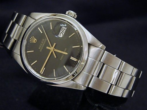 Rolex Stainless Steel Oysterdate 6694 Black -5