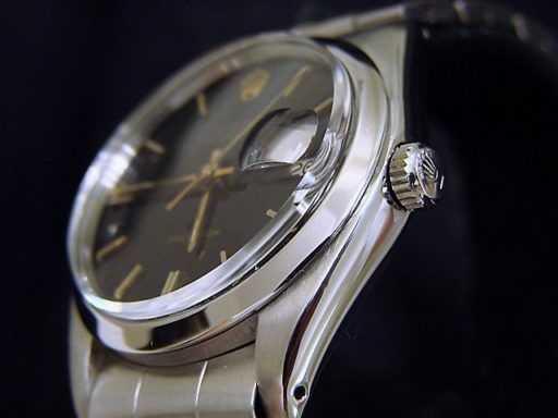 Rolex Stainless Steel Oysterdate 6694 Black -4