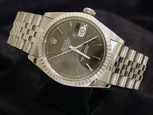 Rolex Stainless Steel Datejust 16030 Gray, Slate -4