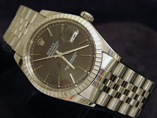 Rolex Stainless Steel Datejust 16030 Gray, Slate -3