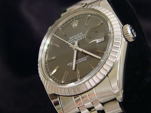Rolex Stainless Steel Datejust 16030 Gray, Slate -2