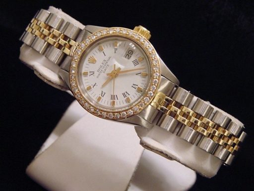 Rolex Two-Tone Date 6917 Diamond White-6