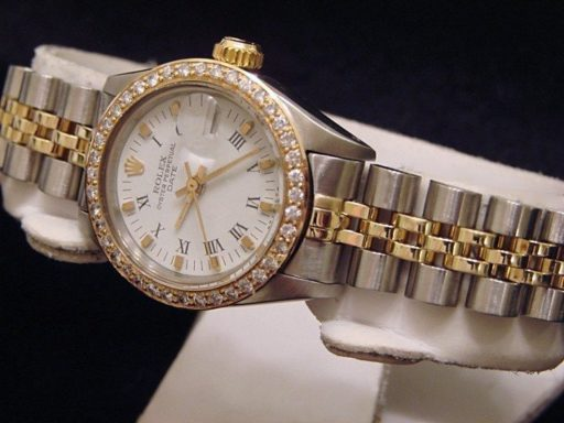 Rolex Two-Tone Date 6917 Diamond White-4