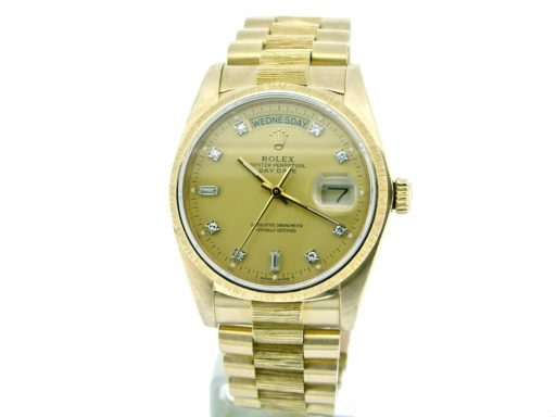 Rolex 18K Yellow Gold Day-Date President 18078 Champagne Diamond-8