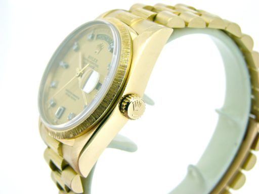 Rolex 18K Yellow Gold Day-Date President 18078 Champagne Diamond-6