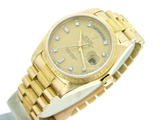 Rolex 18K Yellow Gold Day-Date President 18078 Champagne Diamond-4