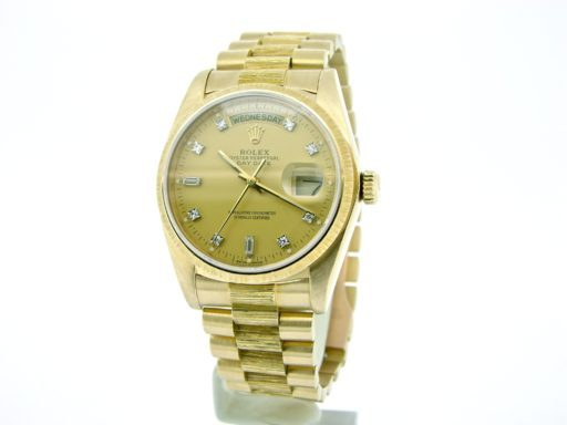 Rolex 18K Yellow Gold Day-Date President 18078 Champagne Diamond-9