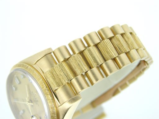 Rolex 18K Yellow Gold Day-Date President 18078 Champagne Diamond-3
