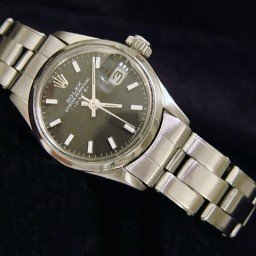Ladies Rolex Stainless Steel Date Black  6516