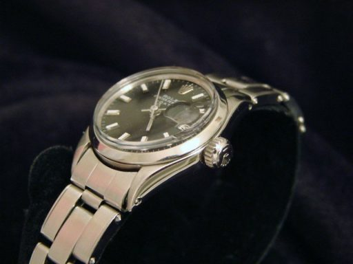 Rolex Stainless Steel Date 6516 Black -4