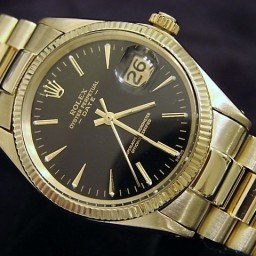 Pre Owned Mens Rolex Yellow Gold Date with a Black Dial 1503