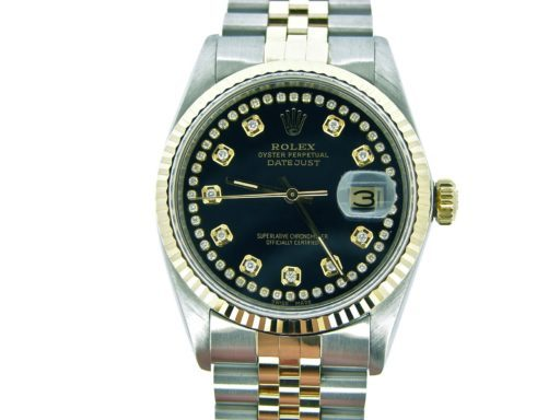 Rolex Two-Tone Datejust 16013 Black Diamond-4
