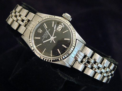 Rolex Stainless Steel Date 6517 Black -4