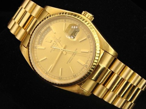 Rolex 18K Yellow Gold Day-Date President 18038 Champagne -2