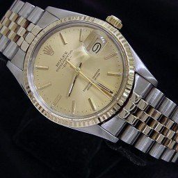 Mens Rolex Two-Tone 14K/SS Date Champagne  15053 (SKU 9092596MT)