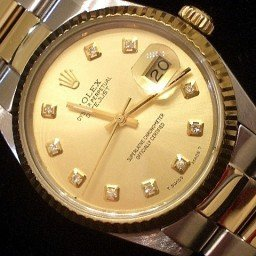 Mens Rolex Two-Tone 18K/SS Datejust Champagne Diamond 16013
