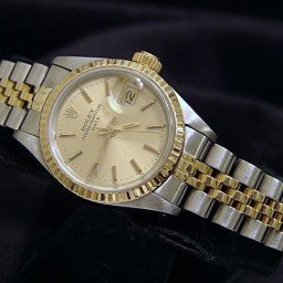 Ladies Rolex Two-Tone 18K/SS Date Champagne  69173